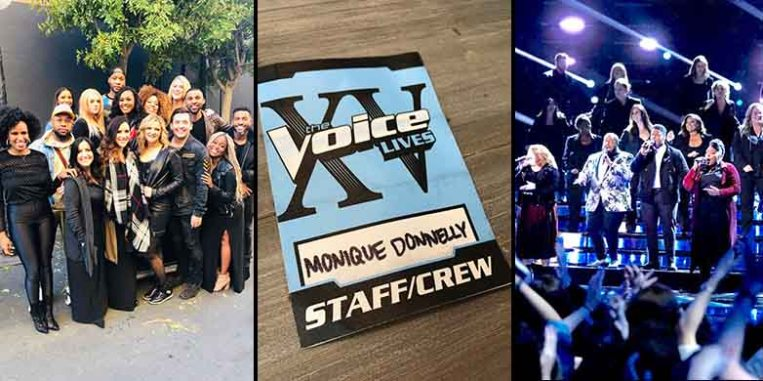 Monique Donnelly Sings Vocals for The Voice XV
